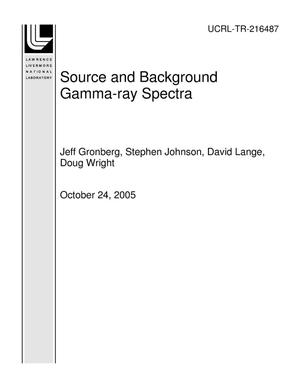 Primary view of object titled 'Source and Background Gamma-ray Spectra'.