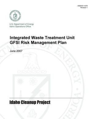 Primary view of object titled 'Integrated Waste Treatment Unit GFSI Risk Management Plan'.