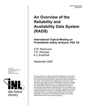 Primary view of object titled 'An Overview of the Reliability and Availability Data System (RADS)'.