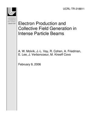 Primary view of object titled 'Electron Production and Collective Field Generation in Intense Particle Beams'.