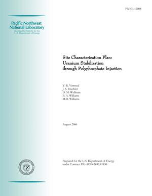 Primary view of object titled 'Site Characterization Plan: Uranium Stabilization through Polyphosphate Injection'.