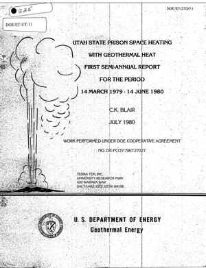 Primary view of object titled 'Utah State Prison Space Heating with Geothermal Heat First Semi-Annual Report for the Period 14 March 1979 - 14 June 1980'.