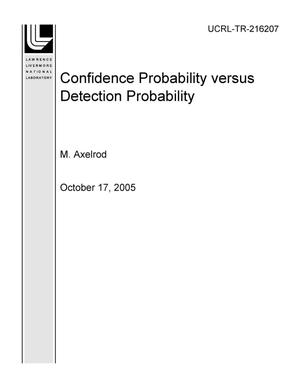 Primary view of object titled 'Confidence Probability versus Detection Probability'.