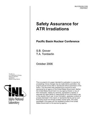Primary view of object titled 'Safety Assurance for ATR Irradiations'.