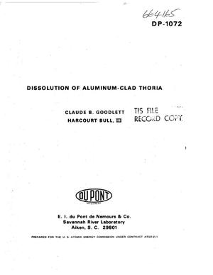 Primary view of object titled 'Dissolution of aluminum-clad thoria'.