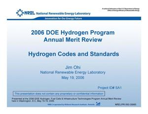 Primary view of object titled 'Hydrogen Codes and Standards (Presentation)'.
