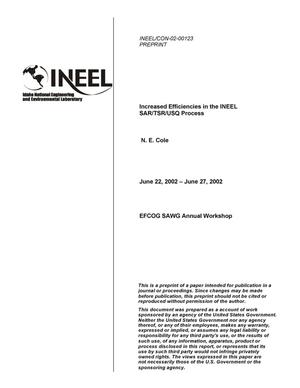 Primary view of object titled 'Increased Efficiencies in the INEEL SAR/TSR/USQ Process'.