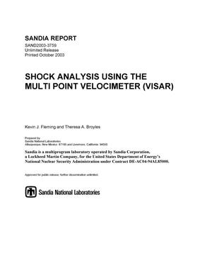 Primary view of object titled 'Shock analysis using the multi point velocimeter (VISAR).'.