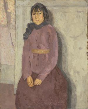 Primary view of object titled 'Girl with a Blue Scarf'.