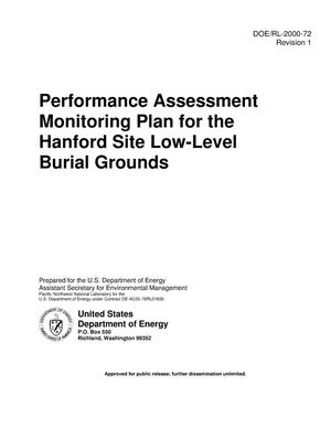Primary view of object titled 'Performance Assessment Monitoring Plan for the Hanford Site Low-Level Burial Grounds'.