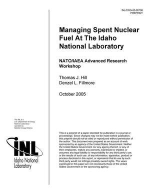 Primary view of object titled 'Managing Spent Nuclear Fuel at the Idaho National Laboratory'.