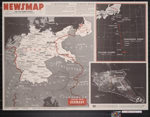 Primary view of object titled 'Newsmap. For the Armed Forces. 286th week of the war, 168th week of U.S. participation'.