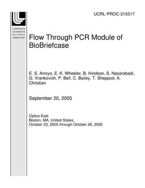 Primary view of object titled 'Flow Through PCR Module of BioBriefcase'.