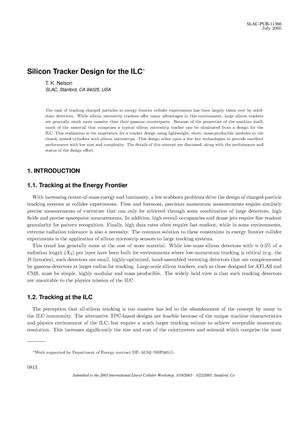 Primary view of object titled 'Silicon Tracker Design for the ILC'.