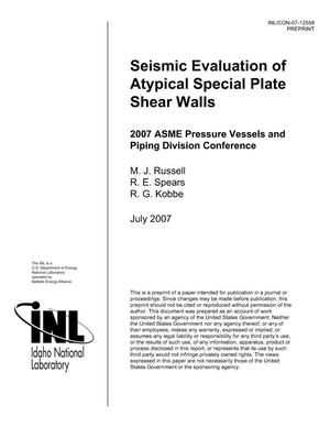 Primary view of object titled 'SEISMIC EVALUATION OF ATYPICAL SPECIAL PLATE SHEAR WALLS'.