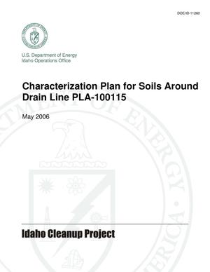 Primary view of object titled 'Characterization Plan for Soils Around Drain Line PLA-100115'.