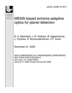 Primary view of object titled 'MEMS-based extreme adaptive optics for planet detection'.