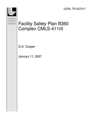 Primary view of object titled 'Facility Safety Plan B360 Complex CMLS-411r0'.