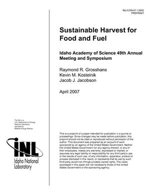 Primary view of object titled 'Sustainable Harvest for Food and Fuel'.