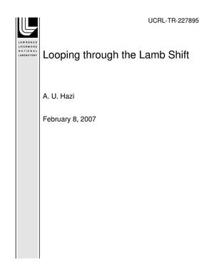 Primary view of object titled 'Looping through the Lamb Shift'.