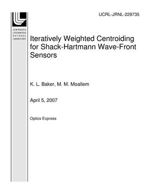 Primary view of object titled 'Iteratively Weighted Centroiding for Shack-Hartmann Wave-Front Sensors'.