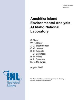 Primary view of object titled 'Amchitka Island Environmental Analysis at Idaho National Laboratory'.