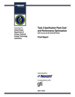 Primary view of object titled 'Gasification Plant Cost and Performance Optimization'.