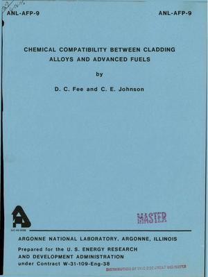 Primary view of object titled 'Chemical compatibility between cladding alloys and advanced fuels'.