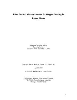 Primary view of object titled 'Fiber Optical Micro-detectors for Oxygen Sensing in Power Plants'.