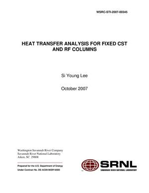 Primary view of object titled 'HEAT TRANSFER ANALYSIS FOR FIXED CST AND RF COLUMNS'.