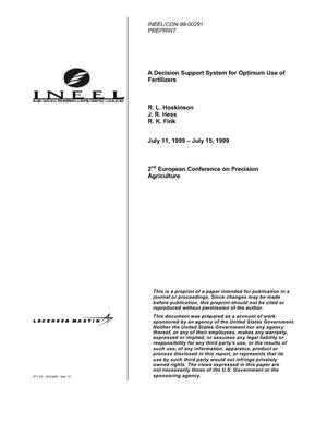 Primary view of object titled 'A Decision Support System for Optimum Use of Fertilizers'.