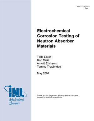 Primary view of object titled 'Electrochemical Corrosion Testing of Neutron Absorber Materials'.