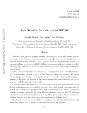 Primary view of object titled 'Light neutralino dark matter in the NMSSM'.