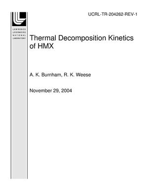 Primary view of object titled 'Thermal Decomposition Kinetics of HMX'.
