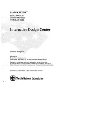 Primary view of object titled 'Interactive design center.'.