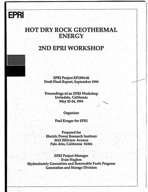 Primary view of object titled 'Hot dry rock geothermal energy. Draft final report'.
