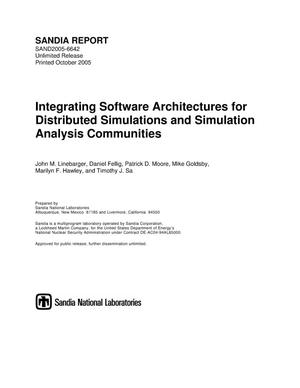 Primary view of object titled 'Integrating software architectures for distributed simulations and simulation analysis communities.'.