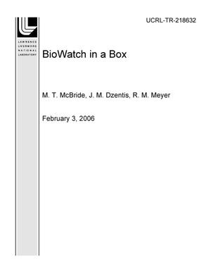 Primary view of object titled 'BioWatch in a Box'.
