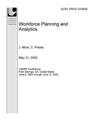 Primary view of object titled 'Workforce Planning and Analytics'.