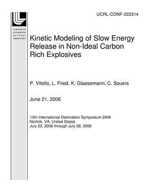 Primary view of object titled 'Kinetic Modeling of Slow Energy Release in Non-Ideal Carbon Rich Explosives'.