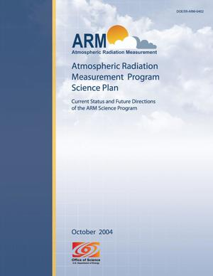 Primary view of object titled 'Atmospheric Radiation Measurement Program Science Plan'.