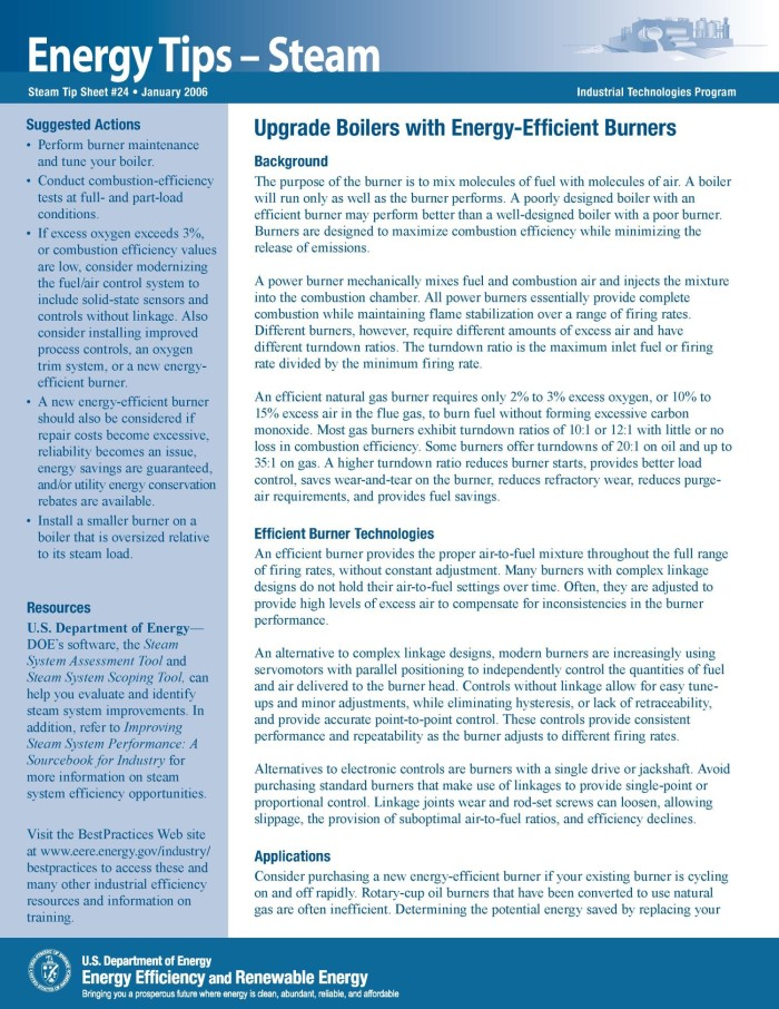 Upgrade Boilers with Energy-Efficient Burners - Digital Library