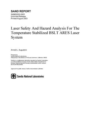 Primary view of object titled 'Laser safety and hazard analysis for the temperature stabilized BSLT ARES laser system.'.