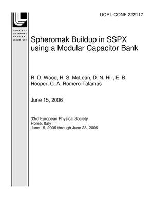 Primary view of object titled 'Spheromak Buildup in SSPX using a Modular Capacitor Bank'.