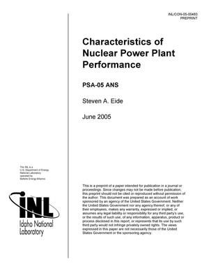 Primary view of object titled 'Characteristics of Nuclear Power Plant Performance'.