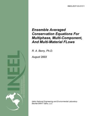 Primary view of object titled 'Ensemble Averaged Conservation Equations for Multiphase, Multi-component, and Multi-material Flows'.
