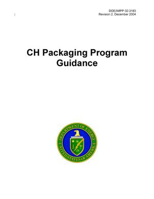 Primary view of object titled 'CH Packaging Program Guidance'.