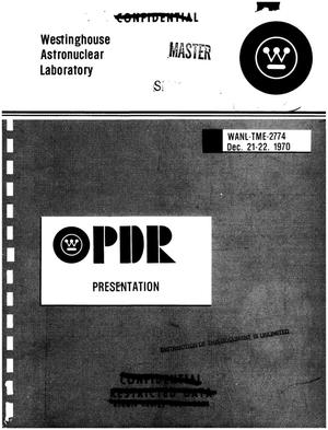 Primary view of object titled 'Westinghouse PRD presentation'.