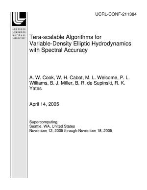 Primary view of object titled 'Tera-scalable Algorithms for Variable-Density Elliptic Hydrodynamics with Spectral Accuracy'.