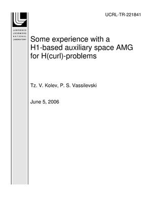 Primary view of object titled 'Some experience with a H1-based auxiliary space AMG for H(curl)-problems'.
